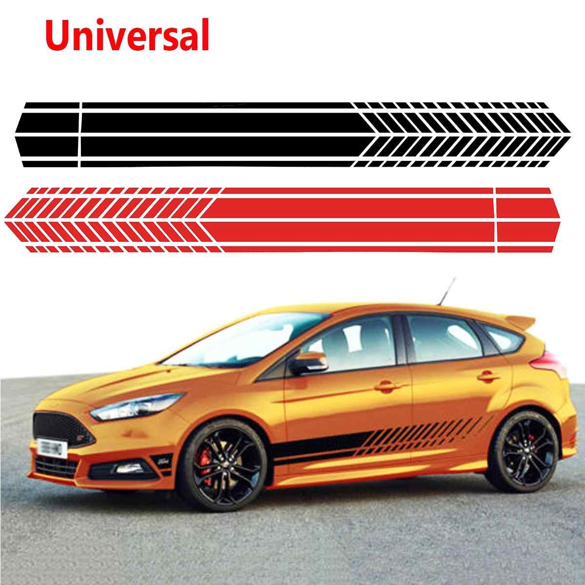 cd4e48ec0d Universal Sports Racing Stripe Graphic Stickers Truck Auto Car Body Side  Door Decals