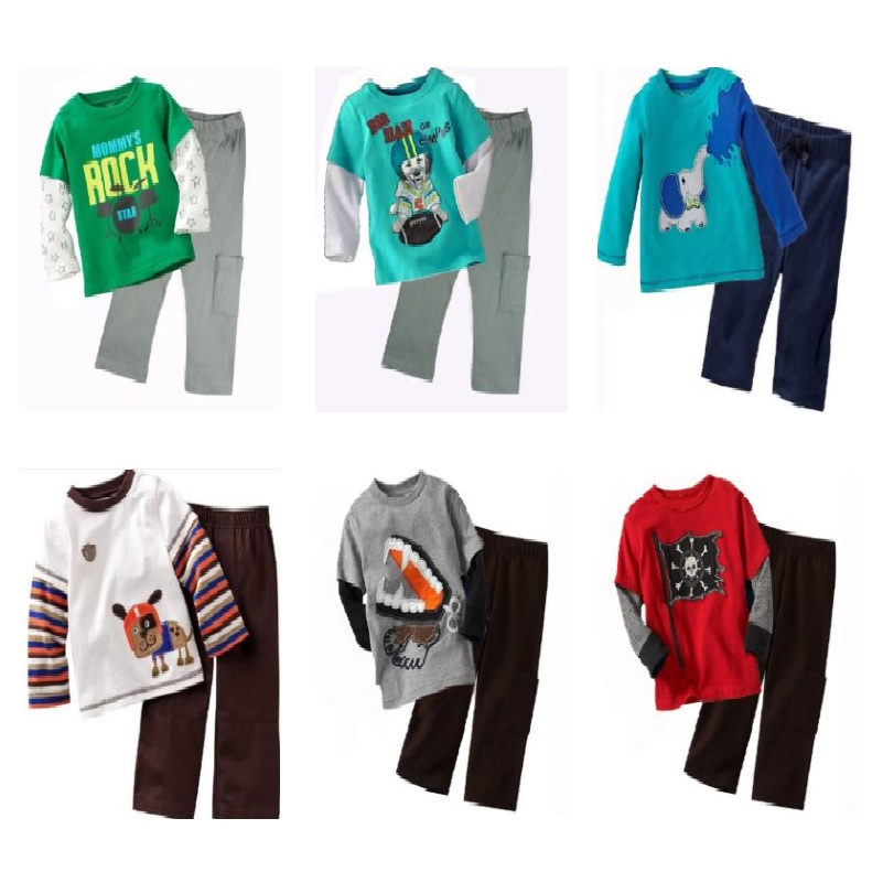 Brand New Baby Boys Clothing Suits Autumn Spring Children Sport Suit Toddler Clothing Sets Character T-Shirts Pants Pajamas Tops 2015 new arrive super league christmas outfit pajamas for boys kids children suit st 004