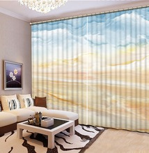 3D Curtain Modern Living Room Curtains Colored Marble Pattern Home Decoration Bedroom Blackout colorful window