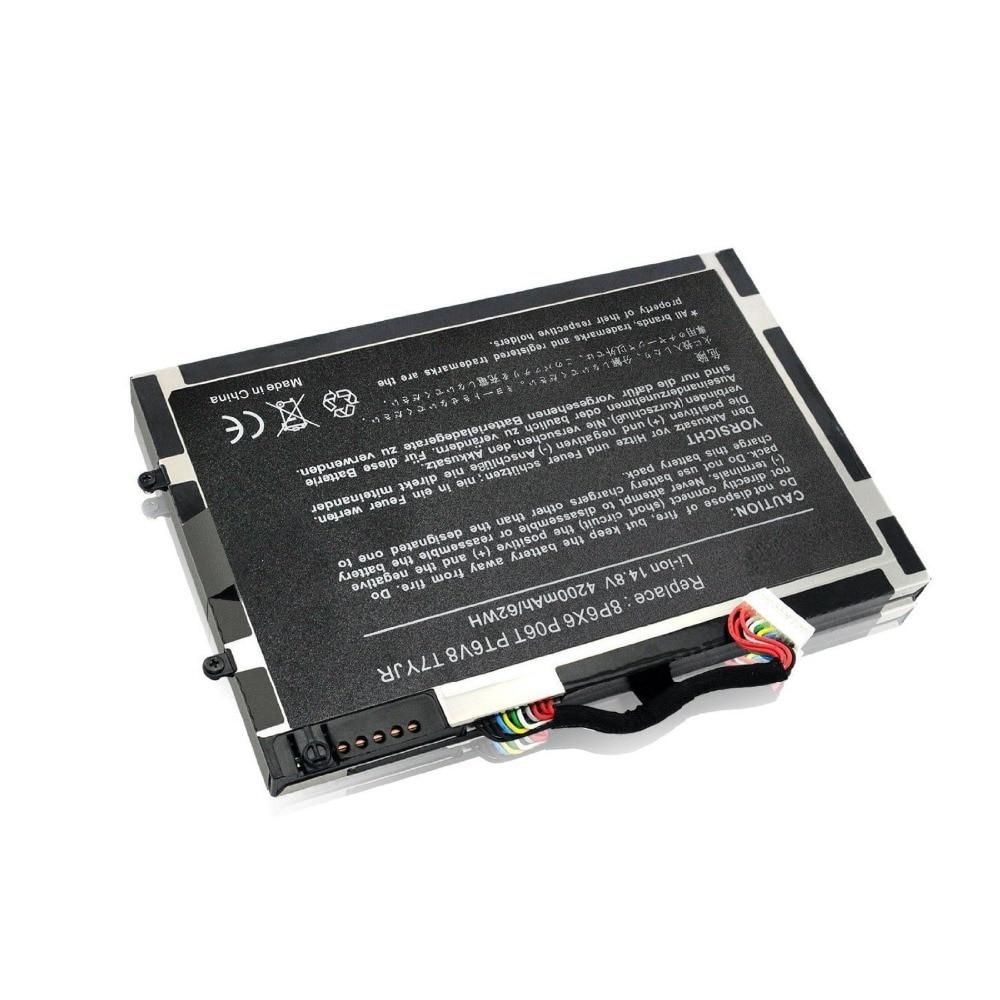 New Laptop Battery for Dell Alienware M11x M14x R1 R2 R3 8p6x6 P06t Pt6v8 T7yjr 08p6x6 P06T PT6V8 T7YJR мужская майка 2014 3d t cat 3d 002