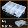 Большой контейнер, пластиковая коробка с 8 ячейками, практичный регулируемый отсек, чехол для хранения ювелирных изделий из бисера, винтовой держатель, чехол, органайзер для дисплея - фото