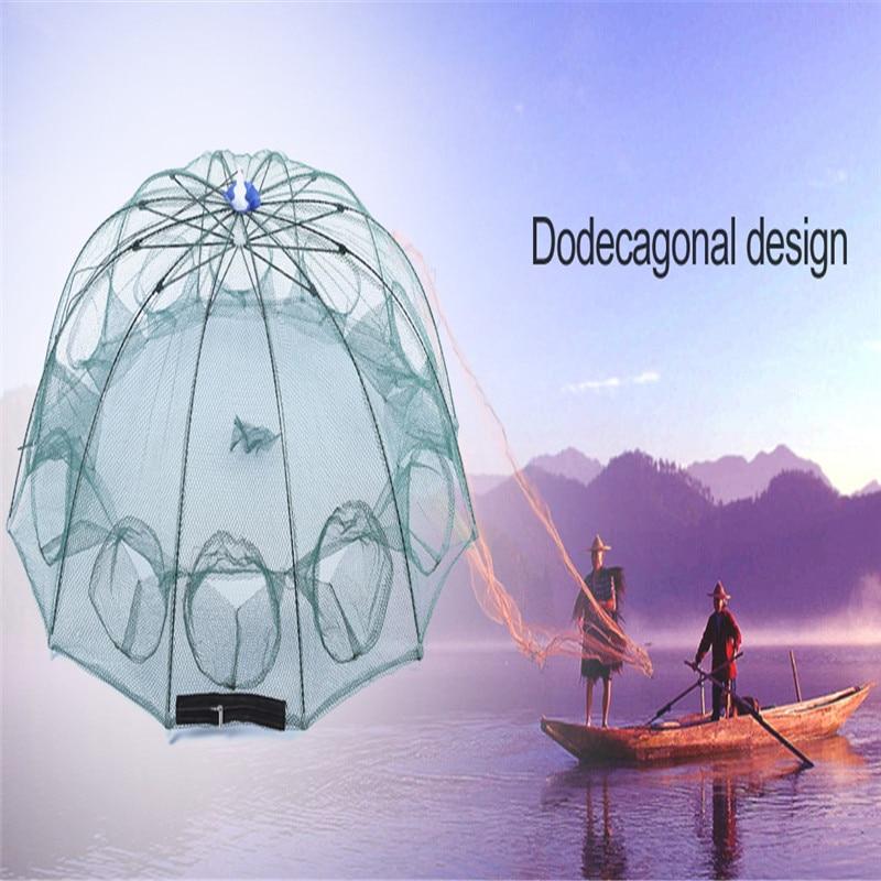 Online Shop New Brand Green Single Knot Utility Fishing Net 12 ...