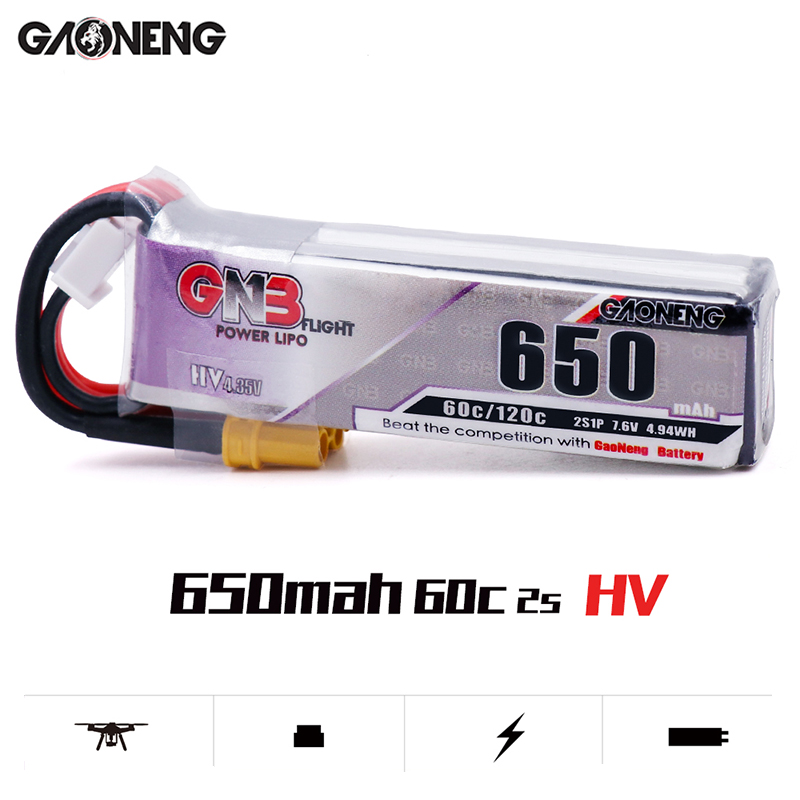 Image 3 - 5PCS Lipo Battery Gaoneng GNB HV 650mAh 60C 1s 2s 3s 4s HV With PH2.0 XT30 Plug For Emax Tinyhawk Kingkong LDARC TINY-in Parts & Accessories from Toys & Hobbies