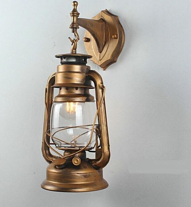 "Здесь продается  New reminiscent of ""iron lantern"" kerosene lamp wall lamp balcony European style nostalgic decorative lighting GY127  Свет и освещение"