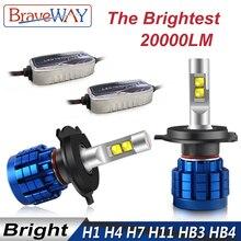 BraveWay 20000LM светодиодный лампа фары H1 H4 H7 H8 H9 H11 HB3 HB4 H7 светодиодный Canbus лампы H4 H7 9005 9006 светодиодный лампы для Автомобильный свет лампы