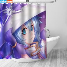 150x180CM Nordic Pictures Polyester Waterproof Hatsune Miku Shower Curtains High Quality Bath Curtain In The Bathroom(China)
