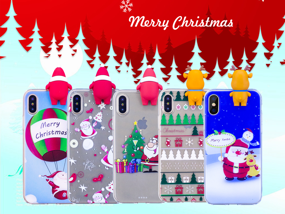 Christmas Festival Cartoon Images.Merry Christmas Festival Case For Iphone 8 7 6 6s Plus 5 5s Se X Cartoon Cute Back Cover Shell Bumper For Iphone Xs Max Xr Coque