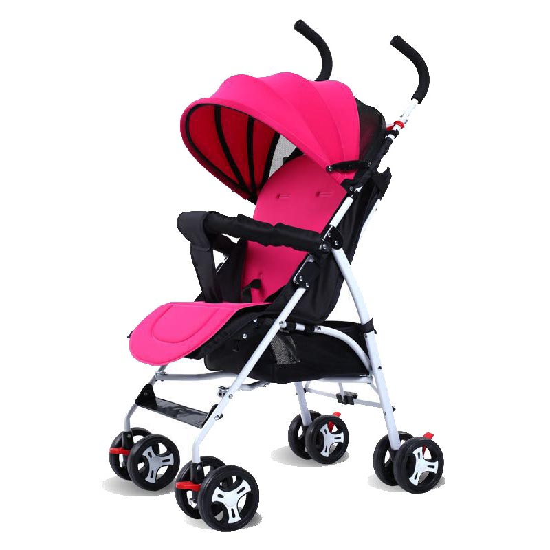 Baby stroller ultra light portable sit lie shock summer umbrella baby stroller four wheel cart baby stroller babyruler ultra light portable four wheel shock absorbers child summer folding umbrella cart