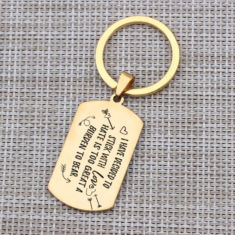 I May Not Be Your First Date Letter Carved Tag Pendant Key Chain Key Ring CS