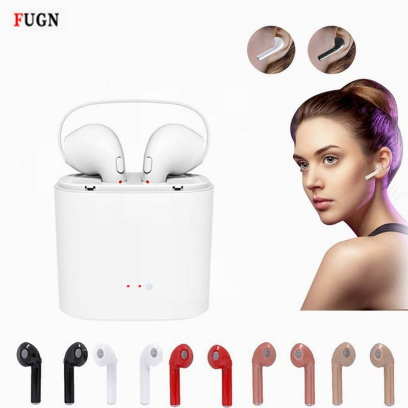 Mini i7s Twins Wireless Bluetooth Headphones Earbuds Phone Earphone Stereo Headset For iOS Android pk i7 + Charger Power Bank koyot sport headphones bluetooth earphones ear phone wireless stereo headset earphone music handsfree for iphone 7 ios android