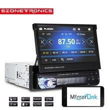 """Trasporto Libero Car Radio Stereo GPS Universale 7 """"scivolare verso il basso Dello Schermo di Tocco di 1DIN Telecomando FM Bluetooth MP3 MP5 audio Lettore"""