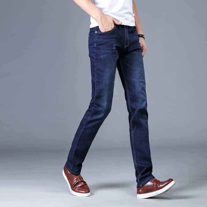 Мужские классические джинсы для женщин бренд большой размеры прямые Pantalon Мужские джинсы Slim Distressed дизайн Байкер брюки девочек Fit Дешевые черны