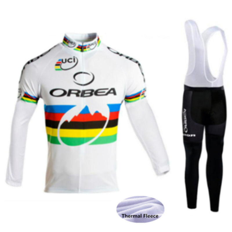 ff8a3f0c9 2018 New ORBEA Cycling jersey Winter Thermal Fleece long sleeves maillot  ciclismo mtb bike cycling clothing