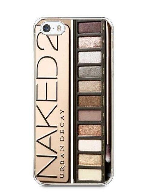 Eye Shadow MakeUp Transparent Hard Plastic Phone Cover Case For iPhone SE 4 4S 5 5S 5C 6 6S 6Plus 7 7Plus 8 8Plus X