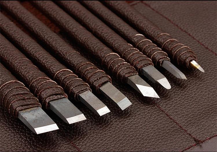 2016 Nové ruční nářadí Tungsten Steel Carving Knife Set Seal - Sady nástrojů - Fotografie 2