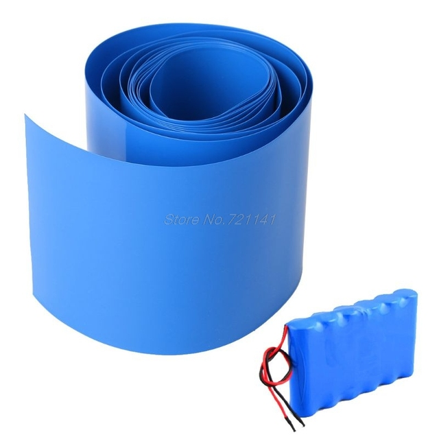 2M Lithium Battery Heat House Shrink Tube Li-ion Wrap Skin 14500 18650 26650 PVC Shrinkable Tubing Film Tape Sleeves Dropship