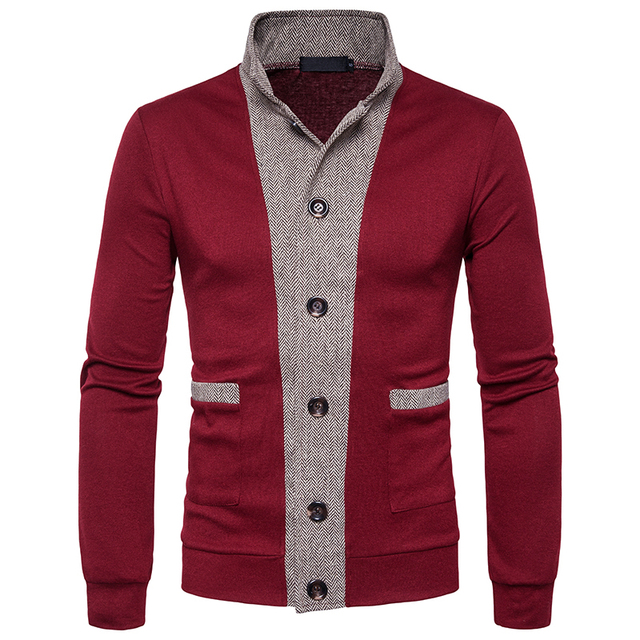 Men s Sweater 2017 New Male Brand Casual Jersey Long Mens Cardigan Fake Two  Piece Slim Fit 38addddf6b