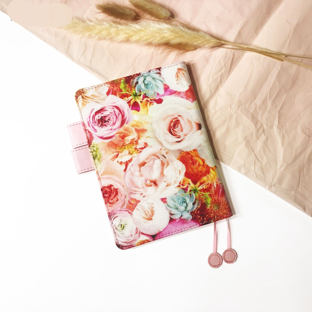 цена на Blooming Flowers Theme Cool Hobonichi Fashion Journal Cover A6 Suit For Standard A6 Fitted Paper Book Free Shipping