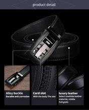 Men's Automatic Buckle Genuine Leather Belt – Black