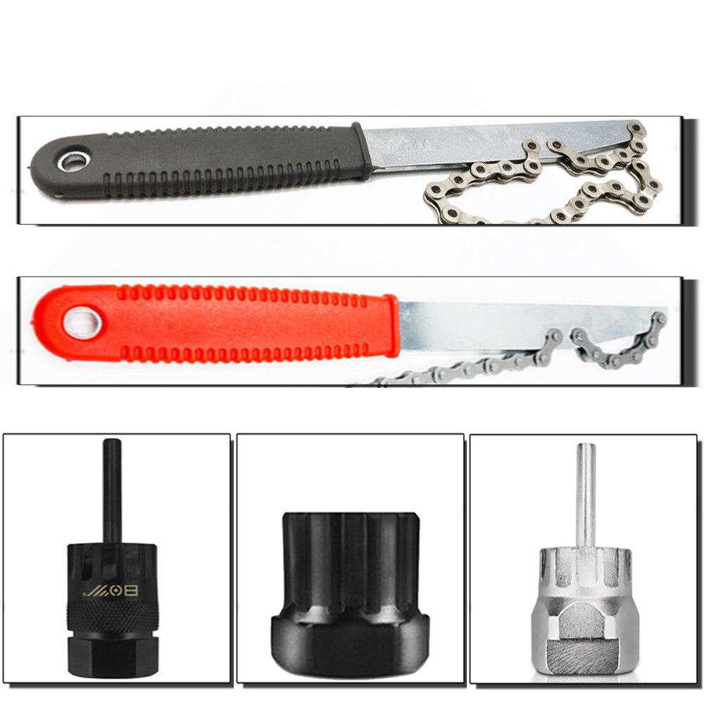 VXM Bicycle Repair Freewheel Tools Kit For Shimano Cassette Remover Center Lock Disc Brakes Installer For 1/2