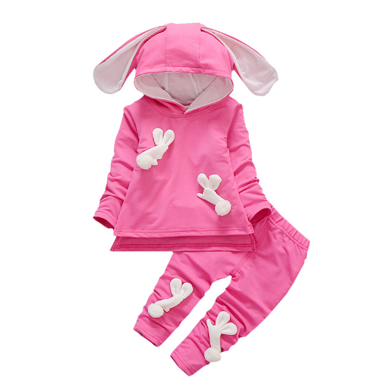 Baby Girls Clothes 2017 Autumn Winter Baby Girls Set T-shirt + Pants 2pc Outfit Suit Fashion Infant Girl Clothing Sets 2016 hot selling baby kids girls one piece sleeveless heart dots bib playsuit jumpsuit t shirt pants outfit clothes 2 7y