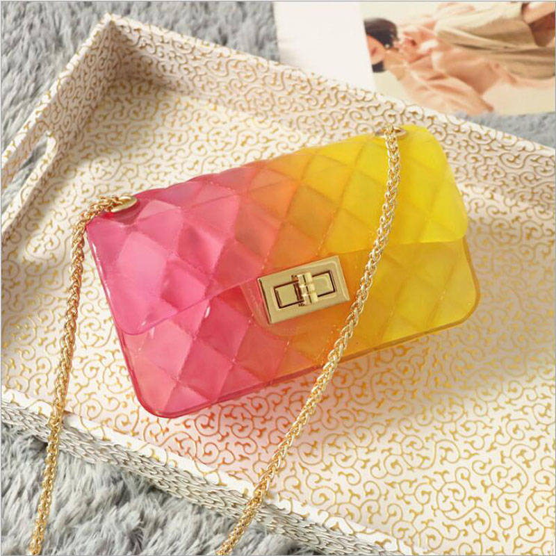 New small sequined candy color handbags hotsale women clutches ladies purse famous brand shoulder strap messenger crossbody bag