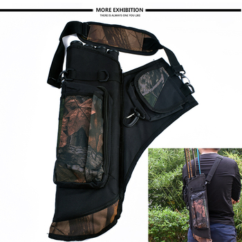 Archery Quiver Waterproof Camouflage Arrows Holder Bag 4 Tubes Arrow Quiver for Recurve Bow Hunting Shooting Archery Accessories cowhide leather shoulder back large capacity quiver arrow holder for compound recurve bow shooting hunting archery arrow quiver
