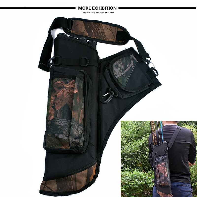 High Quality <font><b>4</b></font> <font><b>Tubes</b></font> Arrow Quiver Waterproof Archery Quiver in Camouflage Arrows Holder Bag for Reverse Bow Hunting Shooting image