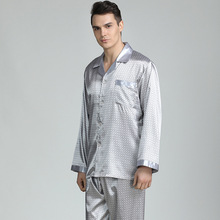 Spring Summer Satin Silk Pajamas Long For Men New Arrival Fashion Pajama Sets Pl