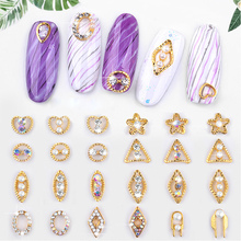 5pcs/set Nail Art Decorations Metal Pearl Accessories Multi-size AB Shinestones 3D DIY Manicure