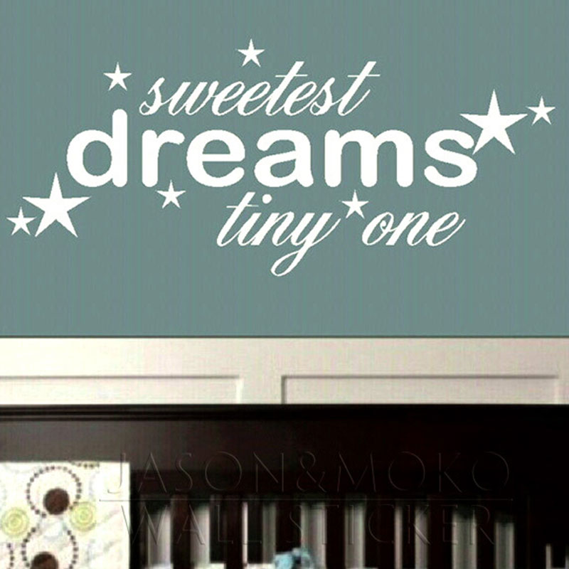 Aliexpress Buy Sweet Dreams Tiny One Sleep Night Star Words