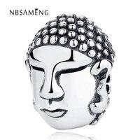 Jclowsexy 2017 Nouveau À La Mode Authentique 925 Sterling Argent Bouddha Tête DIY Charme Perles Fit Original Pandora Bracelet Bijoux
