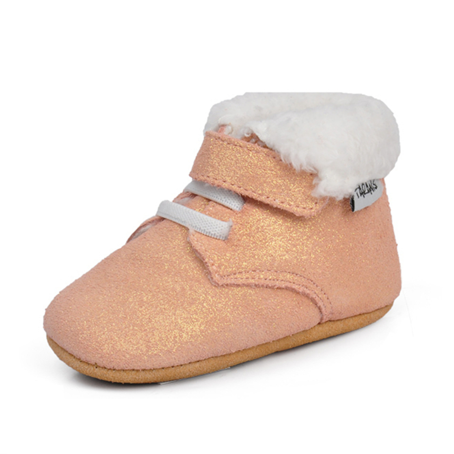 Soft Sole Baby First Walker Leather Shoes Infant Toddler Footwear Anti Slip Cotton Cute Baby Shoes Girls Winter Warm 70A1048 sayoyo brand genuine cow leather baby moccasins snail toddler infant footwear soft soled baby boy shoes pre walker free shipping