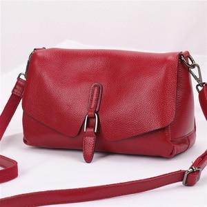 Image 2 - Сумка из натуральной кожи, новинка 2019, кожаная сумка мессенджер через плечо, женская модная переносная сумка из натуральной кожи первого слоя