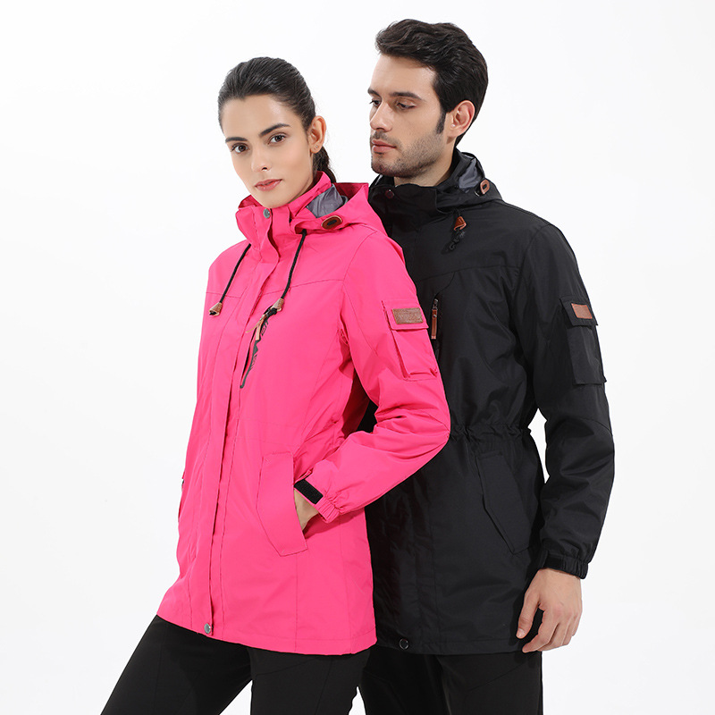 2018 Men And Women Wear Long Clothing Warm Water Waterproof Cold Proof One Coat Three Wear Suits Hiking Assault Jacket