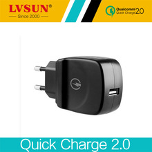 LVSUN 5V 3A 9V 12V Common Qucik Charger 2.zero Transportable Journey AC Adapter USB Wall Charger EU UK US Plug for Cell Telephone Pill