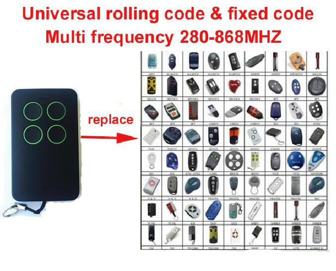 Universal remote cloning rolling code BFT FAAC DOORHAN NICE beninca Liftmaster chamberlain compatible remote free shipping hormann marantec came faac universal 868mhz fixed code learning code replacement remote control duplicator free shipping