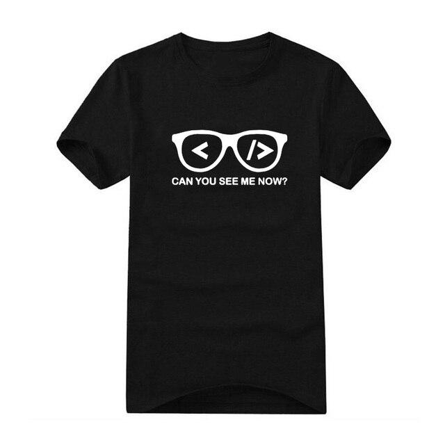 95439c3ca996 Информатика товара Футболка мужская забавная футболка вы можете видеть меня  Теперь юмор Графический Футболка Homme Повседневное