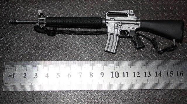 US $18 62 |Merek baru 1/6 skala Model senjata mainan, M16a2 senapan  otomatis PVC Model Gun untuk 12 '' Action Figure mainan Model aksesoris di  Aksi &