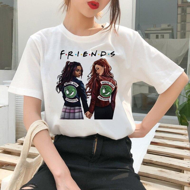 Riverdale   T     Shirt   Southside korean Harajuku Tshirt Top South Side Female Women Serpents clothes Snake Print Ullzang Tees   T  -  shirt