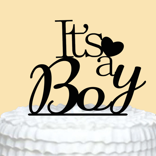 Happy Birthday Cake Topper Its A Boy 1st Decorations Toppers Cakes Heart Party Accessories