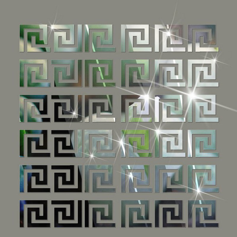 Acquista all'ingrosso Online crystal mirror wall stickers da ...