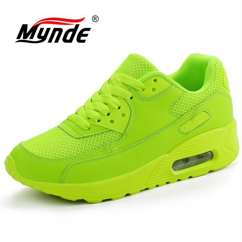 MYNDE Air Mesh Women Men Lightweight Outdoor Sport Running Shoes Couples Breathable Soft Athletics Jogging Sport Sneaker Shoes