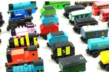 6pcs/lot wooden magnetic Thomas And Friends Train toys/ Wood Complete Set Of Car Engine Train vehicle Toys, free shipping