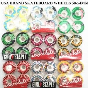 Image 1 - Usa di Marca Pro Skateboard Ruote Pu 50 55 Millimetri di Skateboard Ruote Rodas Doppio Rocker Skate Board Ruote