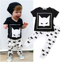 Cotton Short sleeve 2pcs Clothes Sets Summer Clothing Sets Newborn Baby Boys Cartoon Movie T-shirt Pants Clothes Set Cute