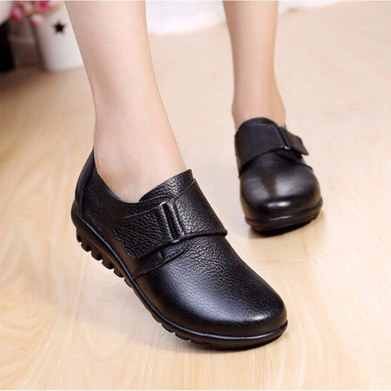 2018 Women Flats Shoes Genuine Leather M