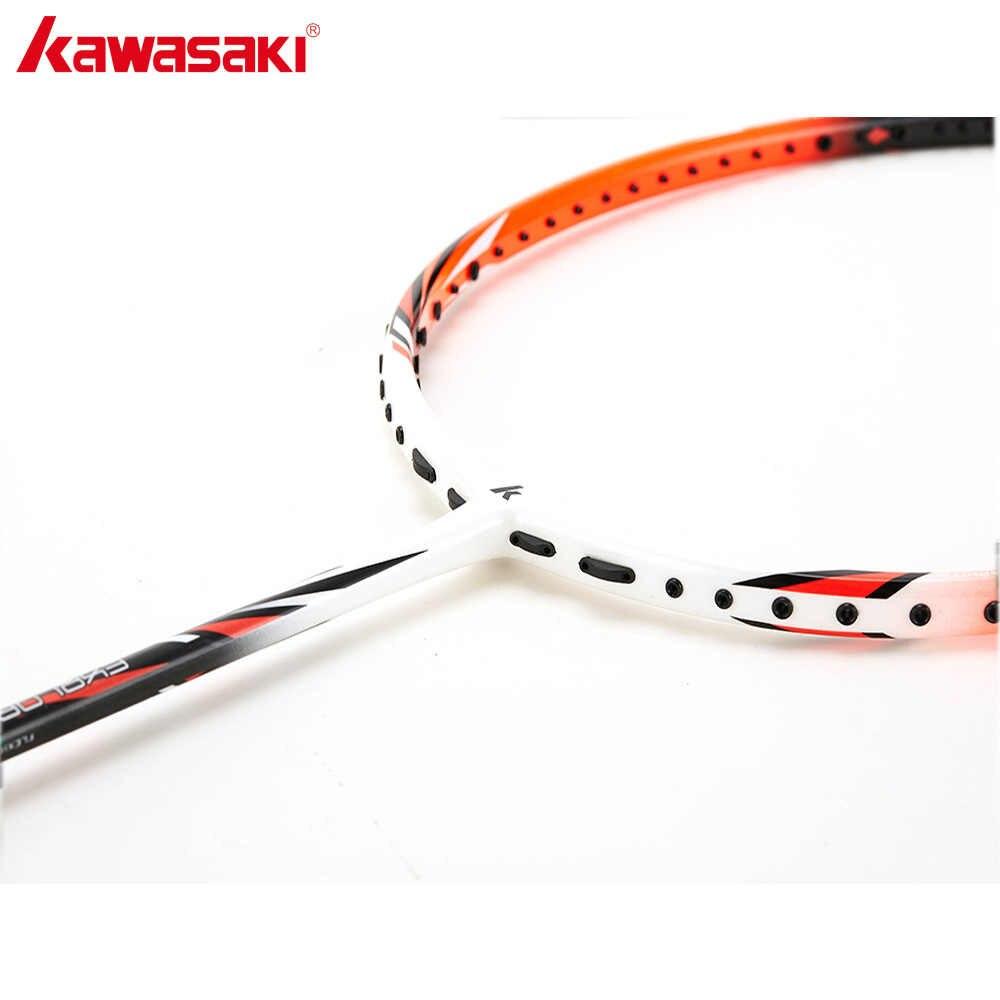 Kawasaki Badminton Rackets Carbon Fiber Ball Control Type Structure Racquet For Junior Plyers Explore X260