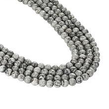 Джафар 2018 высокого качества 5A серая карта камень натуральный камень 6 мм 8 мм 10 мм бусины Подходит для DIY браслет словосочетание