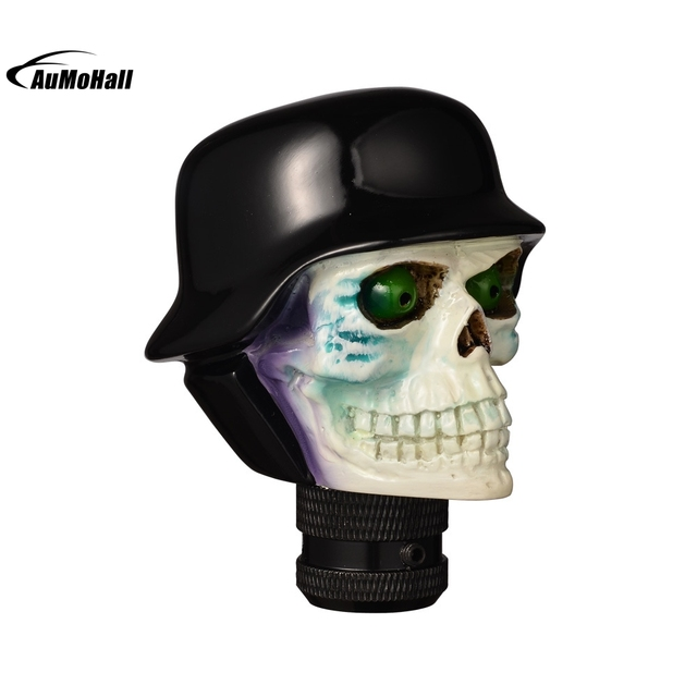 Skull Car Gear Knobs Lever Shift Lever Knob Auto Manual Trans Handle Head Resin